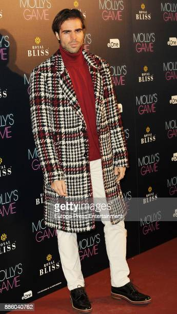 Angel Caballero attends 'Molly's Game' Madrid premiere on December 4 2017 in Madrid Spain