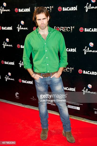 Angel Caballero attends 'REC 4' premiere at Capitol Cinema on October 27 2014 in Madrid Spain