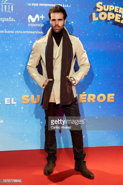 Angel Caballero attends 'Superlopez' premiere at the Capitol cinema on November 21 2018 in Madrid Spain