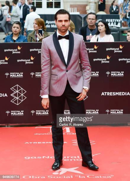 Angel Caballero attends the 21th Malaga Film Festival closing ceremony at the Cervantes Teather on April 21 2018 in Malaga Spain