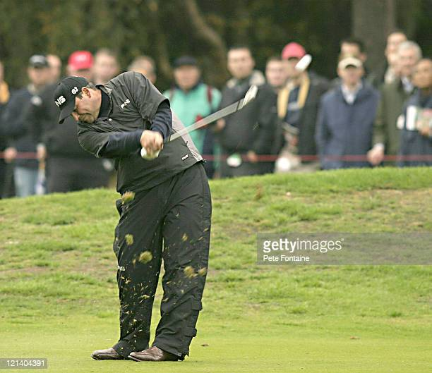 Angel Cabrera competes during the second round of the HSBC World Matchplay Championship held at Wentworth Golf Club's West Course. October 15, 2004.