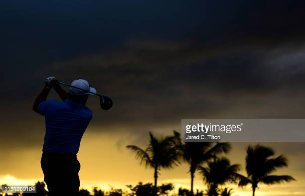 Angel Cabrera of Argentina plays his shot from the first tee during the first round of the Puerto Rico Open at Coco Beach Golf and Country Club on...