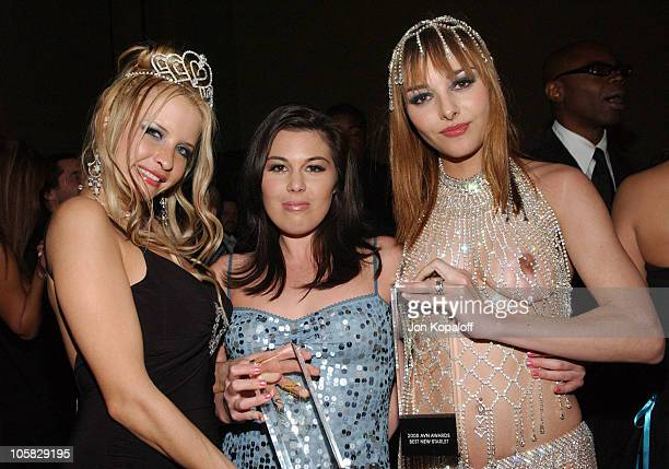 Angel Cassidy Ashley Blue and Cytherea during 2005 AVN Awards Arrivals and Backstage at The Venetian Hotel in Las Vegas Nevada United States