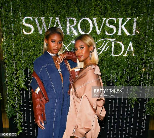 Angel Coleman and Dren Coleman attend the 2018 CFDA Fashion Awards' Swarovski Award For Emerging Talent Nominee Cocktail Party at DUMBO House on May...