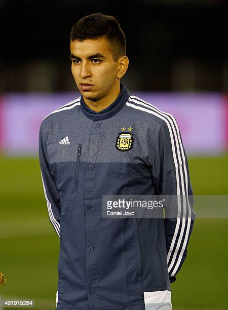 Angel Correa of Argentina before a match between Argentina and Ecuador as part of FIFA 2018 World Cup Qualifier at Monumental Antonio Vespucio...
