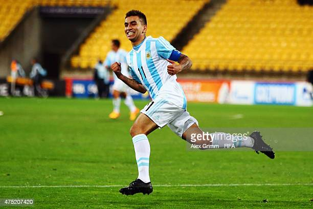 Angel Correa of Argentina celebrates his team's second goal during the FIFA U20 World Cup New Zealand 2015 Group B match between Argentina and Panama...