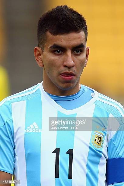 Angel Correa of Argentina is seen prior to the FIFA U20 World Cup New Zealand 2015 Group B match between Argentina and Panama at Wellington Regional...