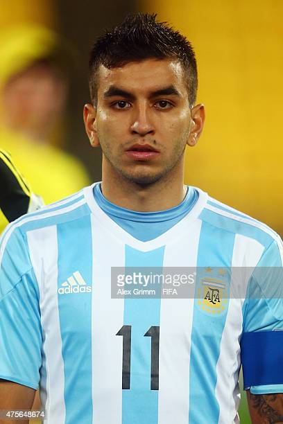 Angel Correa of Argentina is seen prior to the FIFA U20 World Cup New Zealand 2015 Group B match between Argentina and Ghana at Wellington Regional...