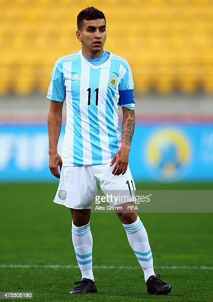 Angel Correa of Argentina reacts during the FIFA U20 World Cup New Zealand 2015 Group B match between Argentina and Panama at Wellington Regional...