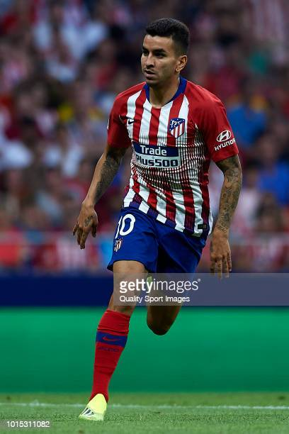 Angel Correa of Atletico de Madrid in action during the PreSeason Friendly match between Atletico de Madrid and FC Internazionale at Wanda...