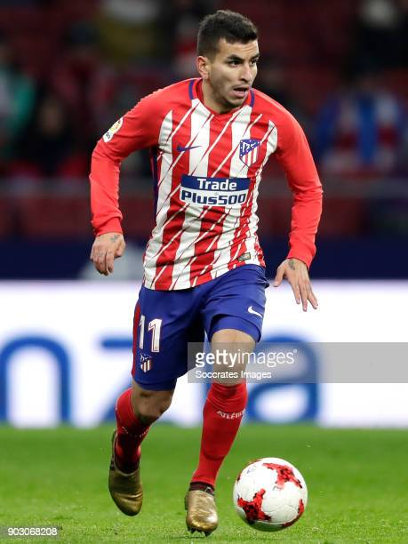 Angel Correa of Atletico Madrid during the Spanish Copa del Rey match between Atletico Madrid v Lleida on January 9 2018