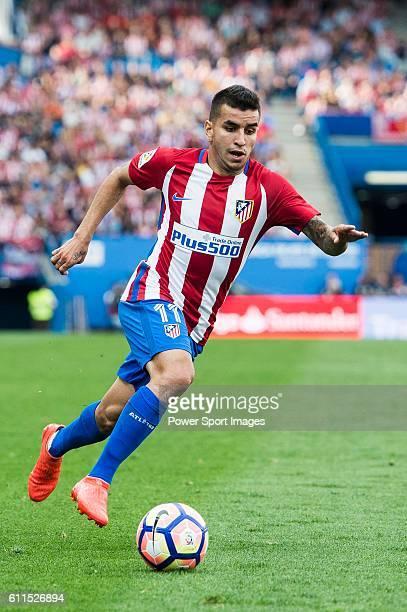 Angel Correa of Atletico Madrid in action during their La Liga match between Atletico Madrid and Deportivo de la Coruna at the Vicente Calderon...