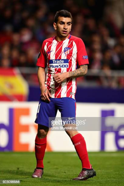 Angel Correa of Atletico Madrid in actionduring UEFA Europa League Round of 32 match between Atletico Madrid and FC Copenhagen at the Wanda...