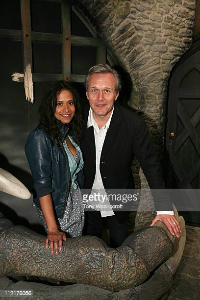 Angel Coulby and Anthony Head attend the launch of a new attraction based on the hit BBC One drama series at Warwick Castle on April 13 2011 in...