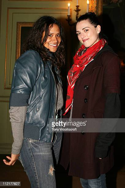 Angel Coulby and Katie McGrath attend the launch of a new attraction based on the hit BBC One drama series at Warwick Castle on April 13 2011 in...
