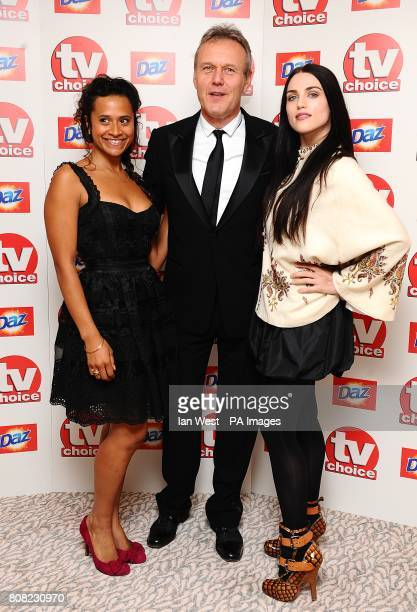 Angel Coulby Anthony Head and Katie McGrath arriving for the 2010 TV Choice awards at the Dorchester Hotel London