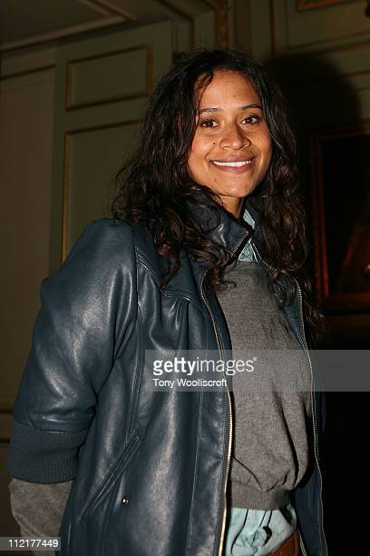 Angel Coulby attends the launch of a new attraction based on the hit BBC One drama series at Warwick Castle on April 13 2011 in Warwick Warwickshire