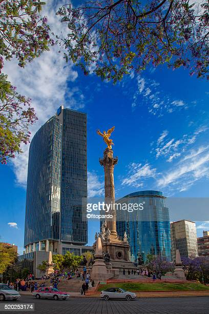 angel de la independencia - independence monument mexico city stock pictures, royalty-free photos & images