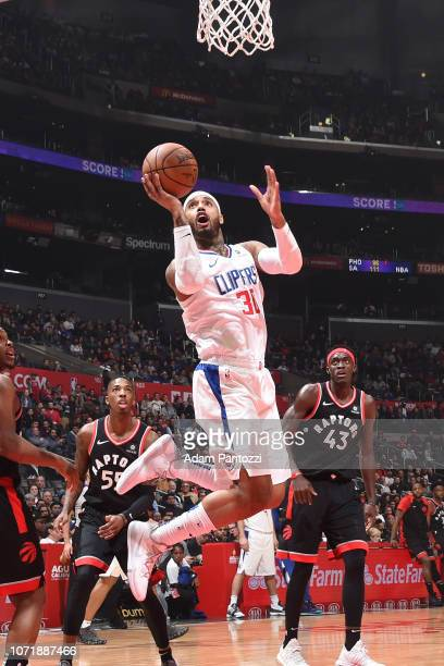 Angel Delgado of the LA Clippers shoots the ball against the Toronto Raptors on December 11 2018 at STAPLES Center in Los Angeles California NOTE TO...