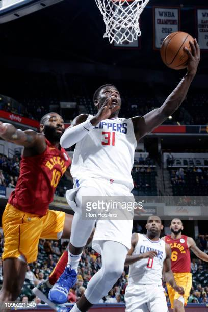 Angel Delgado of the LA Clippers shoots the ball during the game against the Indiana Pacers on February 7 2019 at Bankers Life Fieldhouse in...