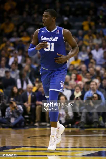 Angel Delgado of the Seton Hall Pirates jogs across the court in the second half against the Marquette Golden Eagles at the Bradley Center on January...