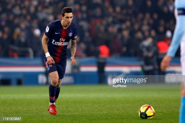 Angel Di Maria during the French Championship Ligue 1 football match between Paris SaintGermain and Olympique de Marseille on March 17 2019 at Parc...
