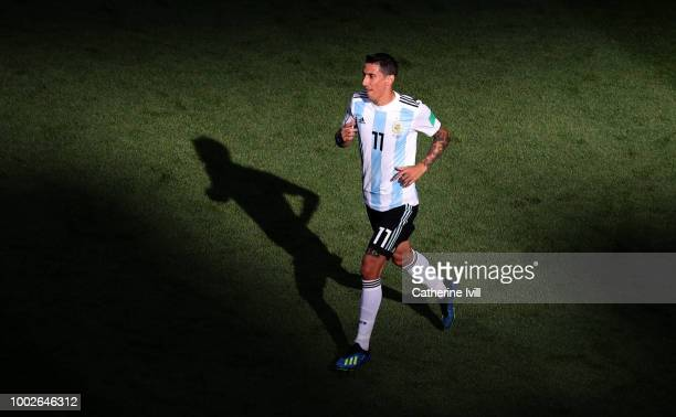 Angel Di Maria of Argentina during the 2018 FIFA World Cup Russia Round of 16 match between France and Argentina at Kazan Arena on June 30 2018 in...