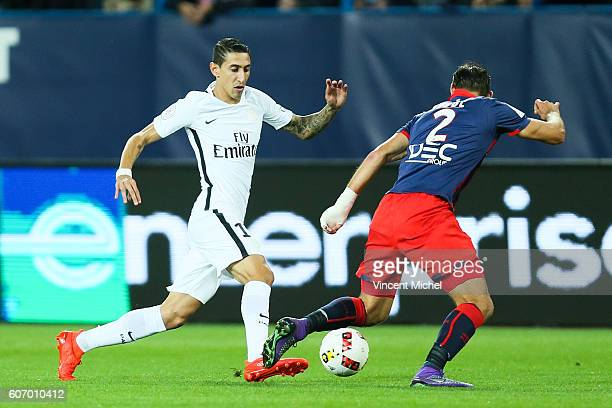 Angel Di Maria of Paris Saint Germain during the Ligue 1 match between SM Caen and Paris Saint Germain at Stade Michel D'Ornano on September 16 2016...
