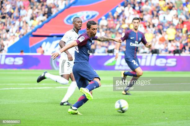 Angel Di Maria of PSG during the Ligue 1 match between Paris Saint Germain and Amiens SC at Parc des Princes on August 5 2017 in Paris France