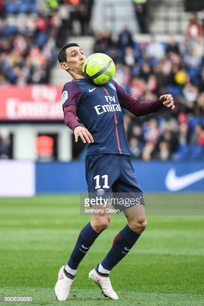 Angel Di Maria of PSG during the Ligue 1 match between Paris Saint Germain and Metz at Parc des Princes on March 10 2018 in Paris