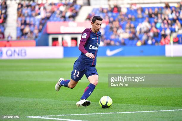Angel Di Maria of PSG during the Ligue 1 match between Paris Saint Germain and Angers SCO on March 14 2018 in Paris France