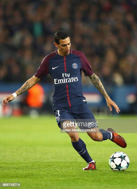 Angel Di Maria of PSG during the UEFA Champions League group B match between Paris SaintGermain and RSC Anderlecht at Parc des Princes on October 31...