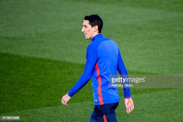 Angel Di Maria of PSG during training session of Paris Saint Germain PSG at Camp des Loges on January 26 2018 in Paris France
