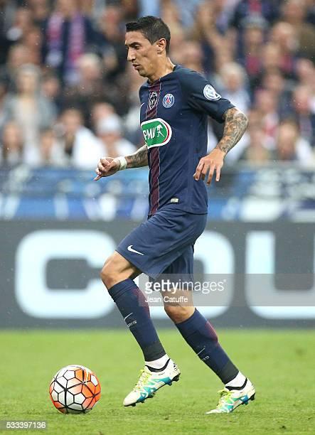 Angel Di Maria of PSG in action during the French Cup Final match between Paris SaintGermain and Olympique de Marseille at Stade de France on May 21...