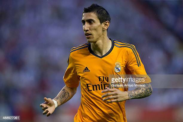 Angel Di Maria of Real Madrid CF looks on during the La Liga match between Real Valladolid CF and Real Madrid CF at Estadio Jose Zorilla on May 7...