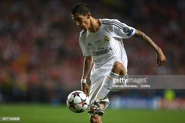 Angel Di Maria of Real Madrid during the UEFA Champions League Final between Real Madrid CF and Club Athletico de Madrid at Estadio da Luz in Lisbon...