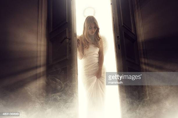 angel entering into the room