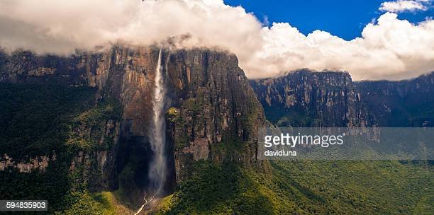angel falls, canaima national park, venezuela - venezuela stock pictures, royalty-free photos & images