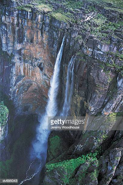 angel falls, canaima national park, venezuela - angel falls stock photos and pictures