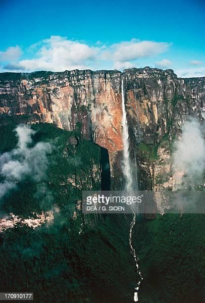 Angel Falls from Mount Auyantepui Canaima National Park Gran Sabana Venezuela