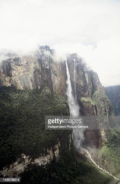 Angel Falls or Salto Angel is the world's highest waterfall in Canaima National Park Venezuela