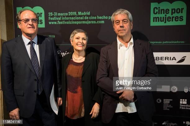 Angel Gabilondo head for Madrid of PSOE attends 'Cine por Mujeres' Festival at Palacio de la Prensa on March 25 2019 in Madrid Spain He is with...