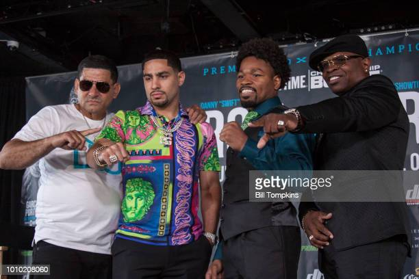 Angel Garcia Danny Garcia Shawn Porter and Kenny Porter pose for the media during the Garcia vs Porter Press conference for the upcoming Welterweight...