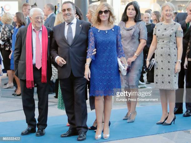 Angel Garcia 'Padre Angel' and Miguel Duran attends the Princesa de Asturias Awards 2017 ceremony at the Campoamor Theater on October 20 2017 in...