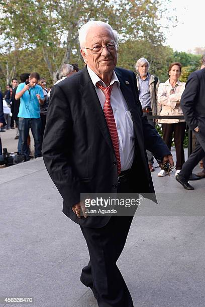 Angel Garcia Rodriguez attends Parque San Isidro Cemetery following the death of Miguel Boyer on September 29 2014 in Madrid Spain Spanish politician...