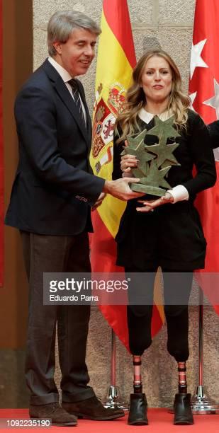 Angel Garrido and Sara Andres Barrio attend the 'Siete Estrellas del Deporte' awards at Real Casa de Correos on January 10 2019 in Madrid Spain