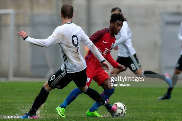 Angel Gomes of England U17 during the U17 Algarve Cup Tournament Match between England U17 and Germany U17 on February 12 2017 in Albufeira Portugal