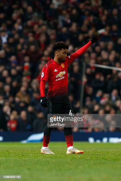 Angel Gomes of Manchester United during the Premier League match between Manchester United and Huddersfield Town at Old Trafford on December 26 2018...