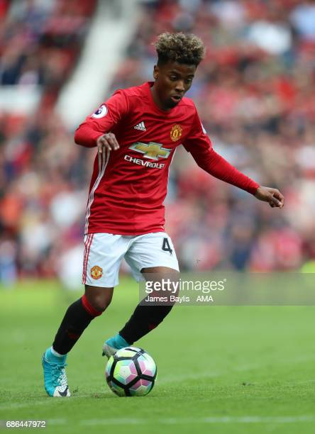 Angel Gomes of Manchester United during the Premier League match between Manchester United and Crystal Palace at Old Trafford on May 21 2017 in...