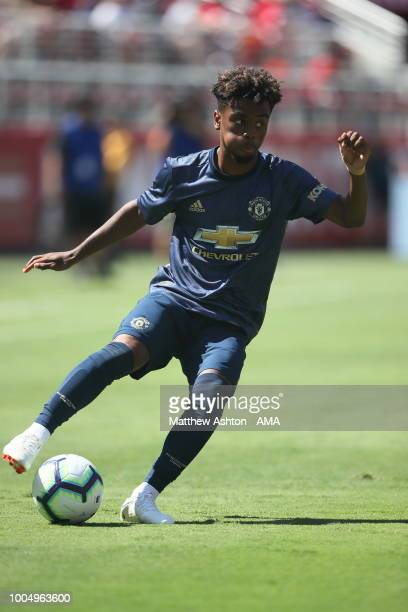 Angel Gomes of Manchester United during the PreSeason match between Manchester United v San Jose Earthquakes at Levi's Stadium on July 22 2018 in...